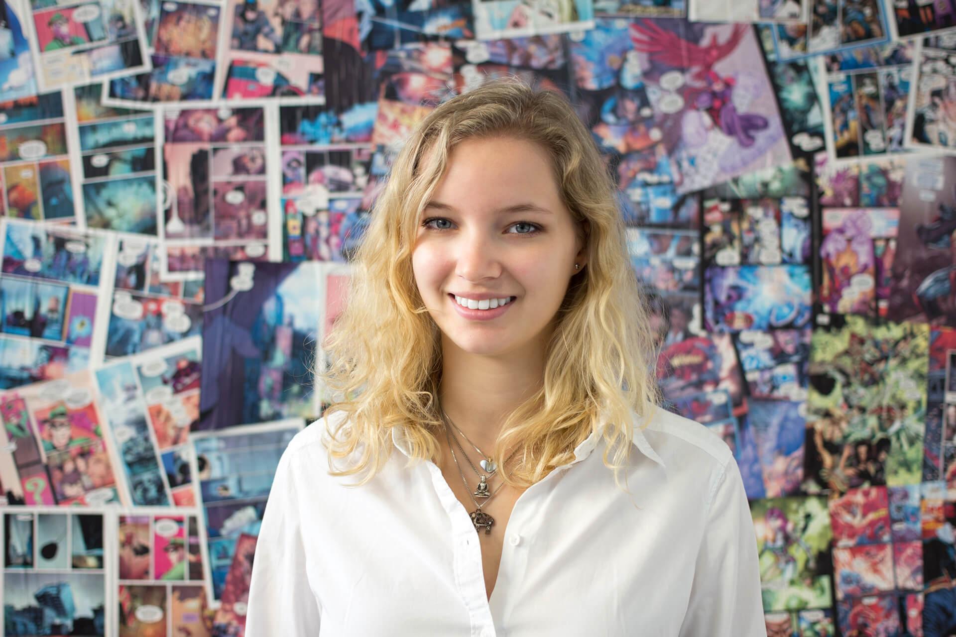 Portraitaufnahme junge Frau