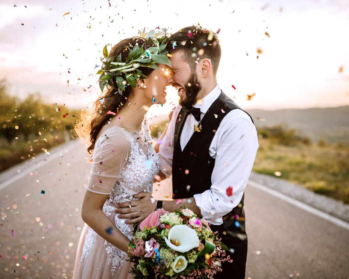 Verheiratete Menschen glücklich